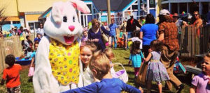 Outer Banks Easter egg hunt - kite show