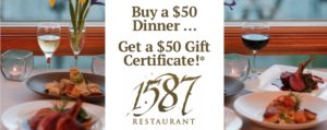 1587 Gift Certificate - Outer Banks Events