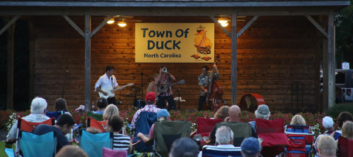 Duck NC music concert on the Town Green