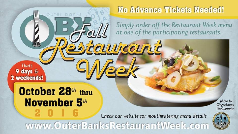 OBX Restaurant Week 2016 - Outer Banks Events Calendar