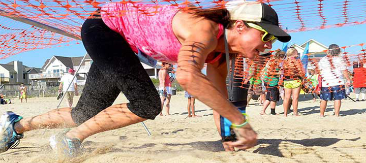 Outer Banks adventure race - obstacle course