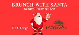 Outer Banks restaurant events - brunch with Santa