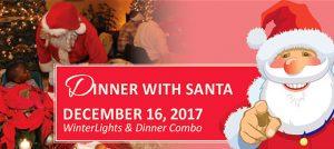 Outer Banks events - Dinner with Santa - Elizabethan Gardens