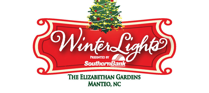 Outer Banks holiday events - Elizabethan Gardens WinterLights