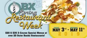 Outer Banks events - Spring restaurant week - Outer Banks restaurants