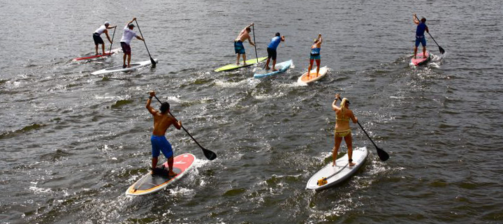Outer Banks Manteo stand up paddleboard race