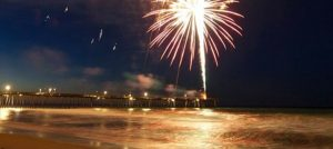 Outer Banks 4th of July fireworks Kill Devil Hills Avalon Pier