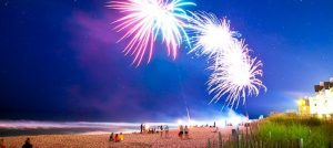 Outer Banks 4th of July fireworks Nags Head Fishing Pier