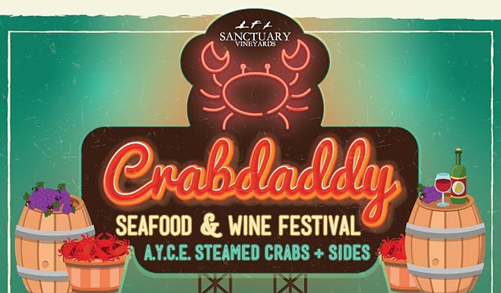Outer Banks events - All You Can Eat crab beer wine festival - Sanctuary Vineyards Crabdaddy