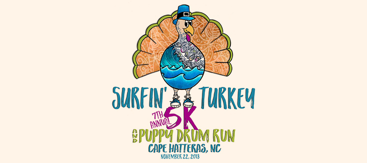Outer Banks events - Surfin Turkey 5k race - Hatteras