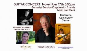 Outer Banks events - live music - guitar concert - Gordon Kreplin Maili Fleck - Rodanthe Community Center