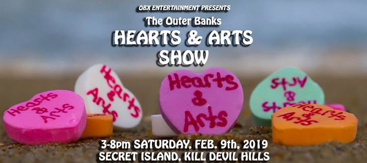 Outer Banks art shows - Valentines Day - crafts gifts collectibles - Secret Island Restaurant
