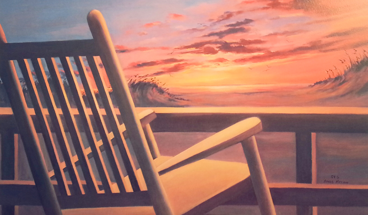 Outer Banks art exhibit - James Melvin - Dare County Arts Council gallery