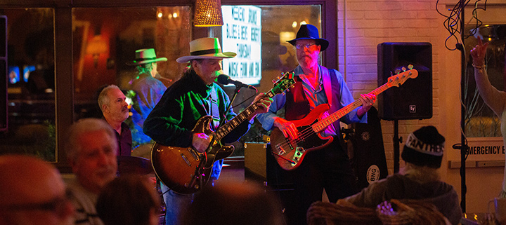 Outer Banks concerts - Mojo Collins and Triple Vision - live music - Bourbon n Blues - Roosters