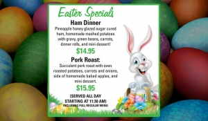 Outer Banks Easter dinner specials - Jolly Roger restaurant