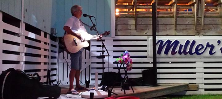 Outer Banks live music - Steve Hauser - Miller's Restaurant